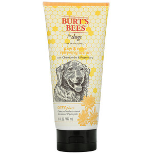 Burt's Bees, Care Plus+, Paw & Nose Relieving Lotion for Dogs with Chamomile & Rosemary, 6  fl oz (177 ml)