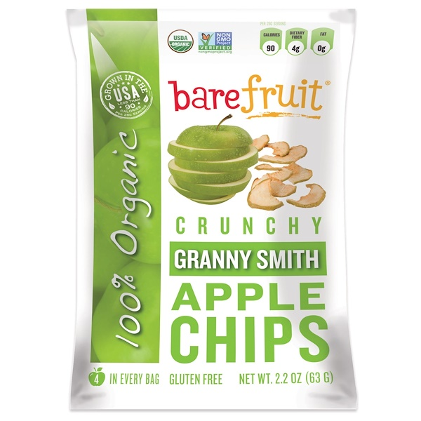Bare Snacks, Granny Smith Apple Chips, 2.2 oz (63 g) (Discontinued Item)
