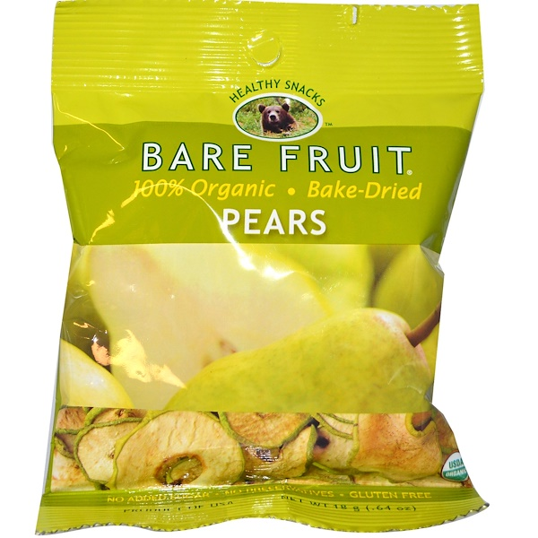 Bare Fruit, Pear Chips, .64 oz (18 g) (Discontinued Item)