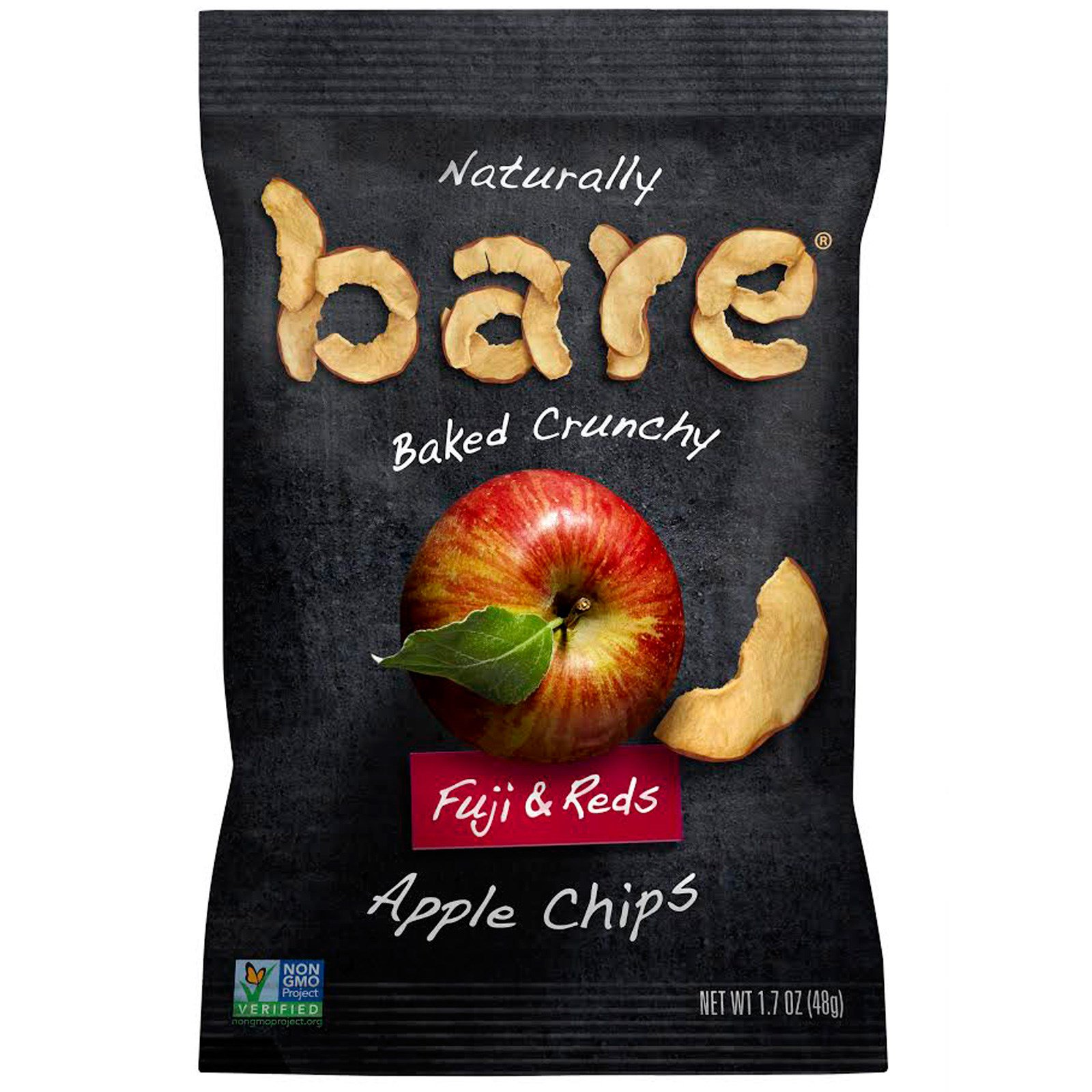 Bare Fruit, Naturally Baked Crunchy, Apple Chips, Fuji & Reds , 1.7 oz (48 g)