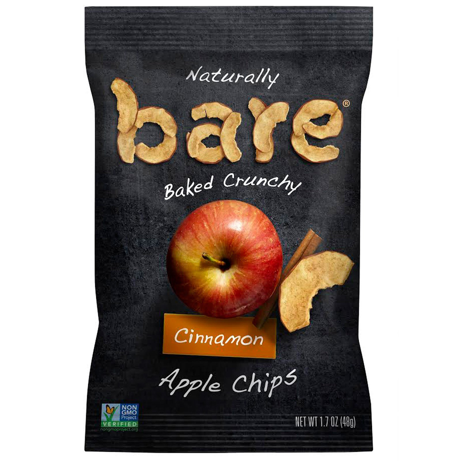 Bare Fruit, Naturally Baked Crunchy, Apple Chips, Cinnamon, 1.7 oz (48 g)