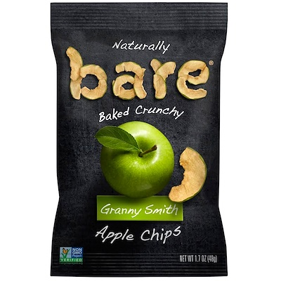 Bare Snacks 天然烤脆,蘋果片,澳洲青蘋,1.7盎司(48克)
