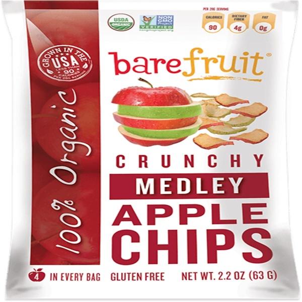 Bare Snacks, Crunchy Medley Apple Chips, 2 2 oz (63 g) (Discontinued Item)