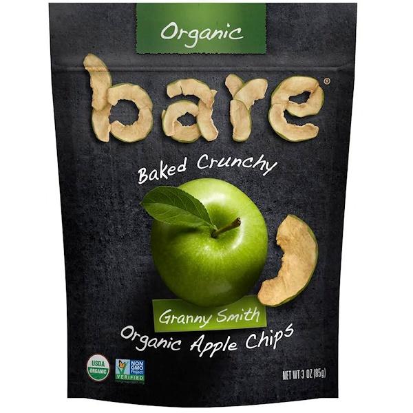 Bare Fruit, 烤脆有機蘋果片,澳洲青蘋果,3盎司(85克)