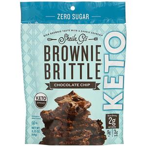 Sheila G's, Brownie Brittle, Keto, Chocolate Chip, 2.25 oz (64 g) отзывы покупателей