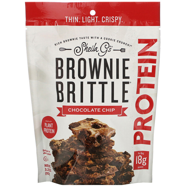 Brownie Brittle, חלבון, שבבי שוקולד, 92 גרם (3.25 אונקיות)