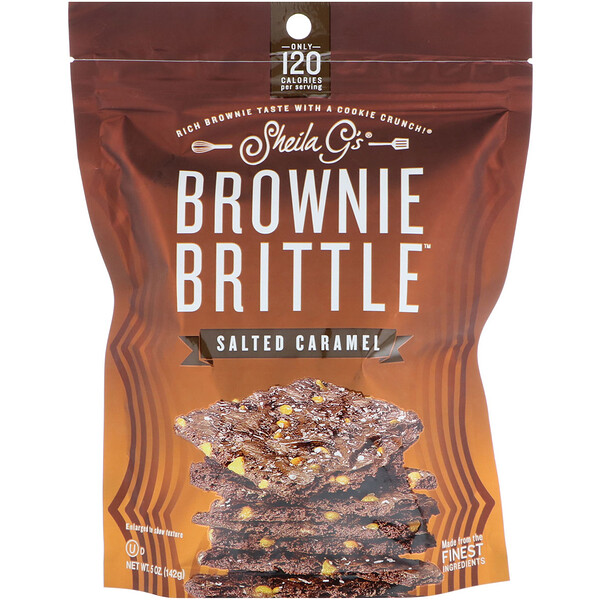 Brownie Brittle(ブラウニーブリトル)、塩カラメル、142g(5オンス)