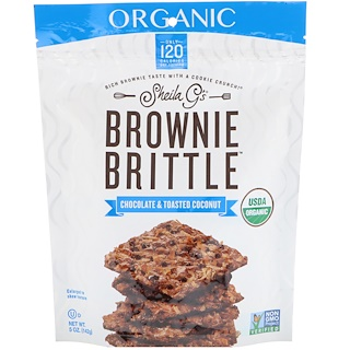Sheila G's, Organic, Brownie Brittle, Chocolate & Toasted Coconut, 5 oz (142 g)
