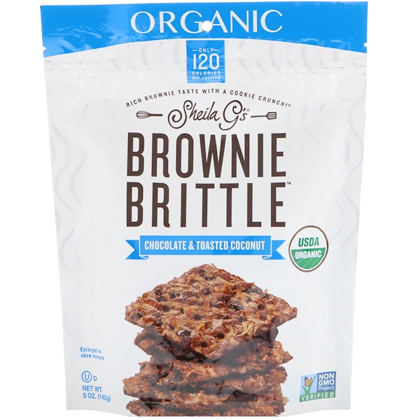 Sheila G's, Organic, Brownie Brittle, Chocolate & Toasted Coconut, 5 oz (142 g) (Discontinued Item)