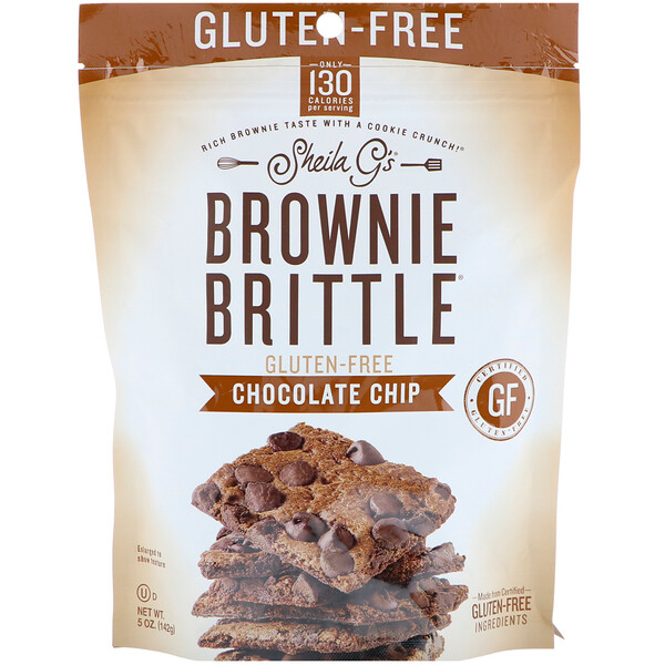 Brownie Brittle, Gluten-Free, Chocolate Chip, 5 oz (142 g)
