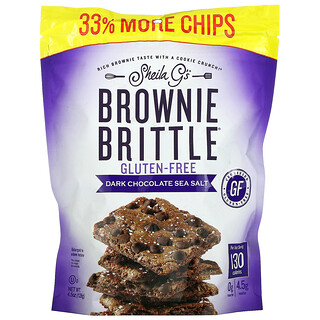 Sheila G's, Brownie Brittle, Gluten-Free, Dark Chocolate Sea Salt, 4.5 oz (128 g)