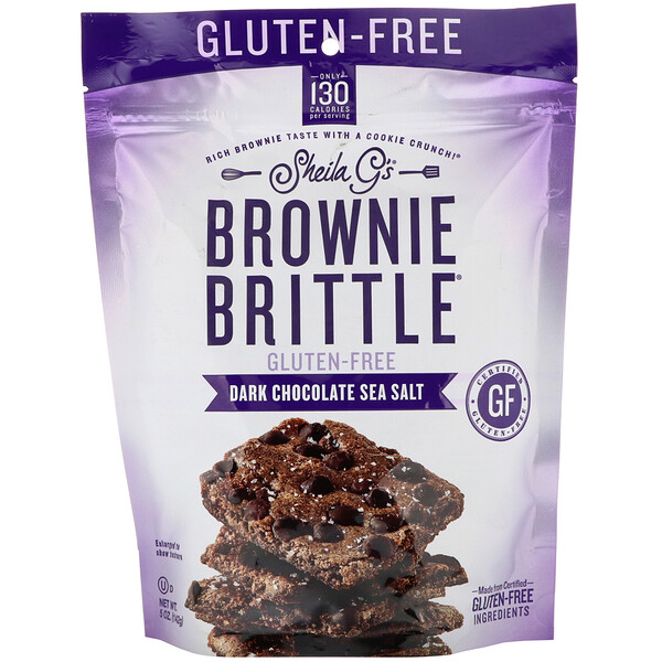 Brownie Brittle, Gluten-Free, Dark Chocolate Sea Salt, 5 oz (142 g)