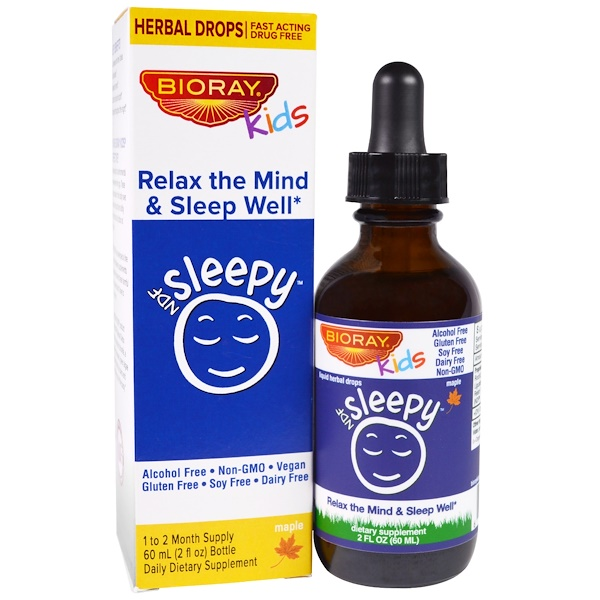 Kids, NDF Sleepy, Relax The Mind & Sleep Well, Maple, 2 fl oz (60 ml)