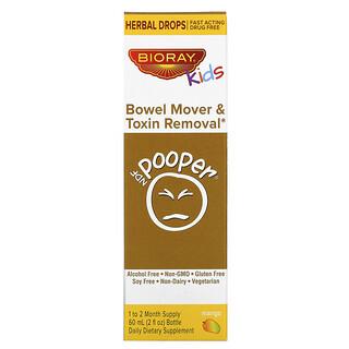 Bioray, Kids, NDF Pooper, средство для очищения кишечника и удаления токсинов, манго, 60 мл (2жидк.унции)