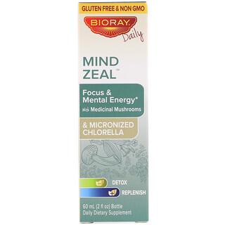 Bioray, Celo de la mente, enfoque y energía mental, sin alcohol, 2 fl oz (60 ml)