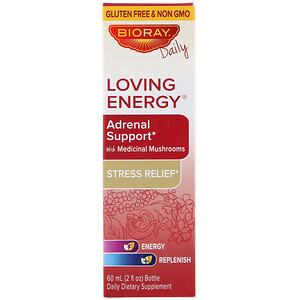 Баорэй, Loving Energy, Adrenal Support with Medical Mushrooms, Alcohol Free, 2 fl oz (60 ml) отзывы