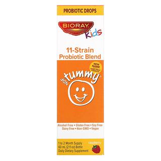 Bioray, Kids, NDF Tummy, смесь из 11штаммов пробиотиков, со вкусом малины, 60мл (2жидк.унции)