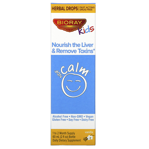 NDF Calm, Nourish the Liver & Remove Toxins, Kids, Vanilla Flavor, 2 fl oz (60 ml)