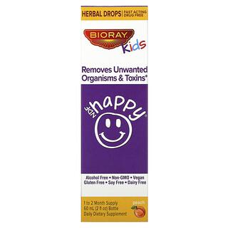 Bioray, NDF Happy, удаляет нежелательные организмы и токсины, для детей, персиковый вкус, 60 мл (2жидк.унции)