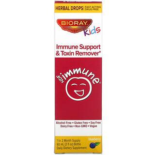 Bioray, добавка для поддержки иммунитета и выведения токсинов для детей, голубика, 60 мл (2 жидк. унции)