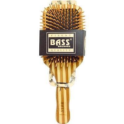 Большая прямоугольная щетка для волос с деревянной щетиной и бамбуковой ручкой, 1 щетка для волос щетка для пыли с ручкой rengo quelle vigar 1011805