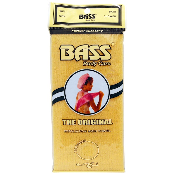 Bass Brushes, 바디 케어(Body Care), 오리지널 피부 목욕 수건(The Original Exfoliation Skin Towel), 1 개입
