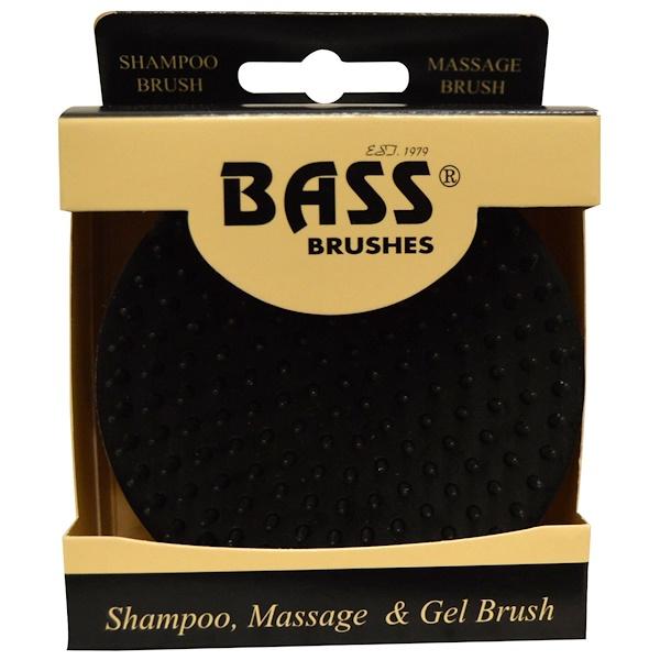 Bass Brushes, Shampoo, Massage & Gel Brush, Soft Nylon Bristle, 1 Brush
