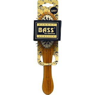 Bass Brushes, Wire/Boar Pet Groomer Oval, Small, 1 Brush