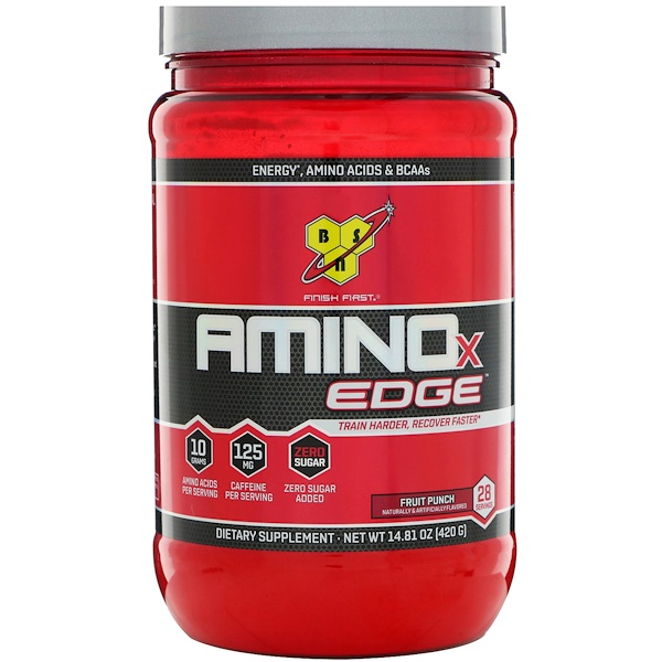 BSN, Amino-X Edge,混合型果汁味,14、81 盎司(420 克)