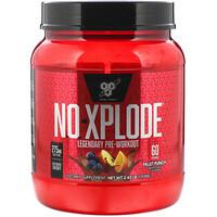 N.O.-Xplode, легендарное предтренировочное средство, фруктовый пунш, 2,45 фунта (1,11 кг) - фото