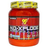 N.O.-Xplode, Предтренировочная энергия, со вкусом ежевикообразной малины, 1.11 кг - фото