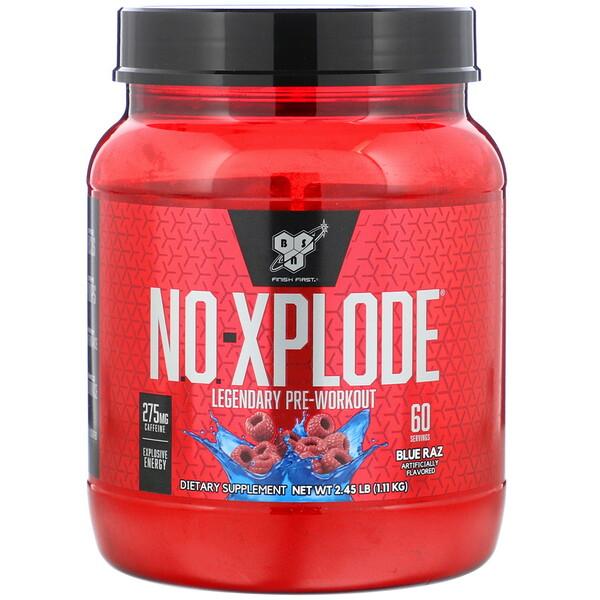 BSN, N.O.-Xplode, Legendary Pre-Workout, Blue Raz, 2.45 lb (1.11 kg)
