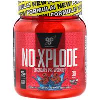 N.O.-Xplode, Стимулятор для приема перед тренировкой, Blue Raz, 1,22 фунта (555 г) - фото