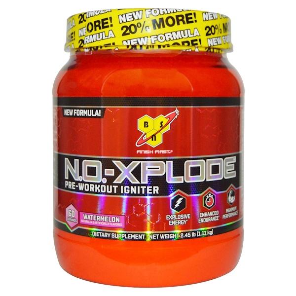 BSN, N.O.-Xplode, Pre-Workout Igniter, Watermelon, 2.45 lbs (1.11 kg)