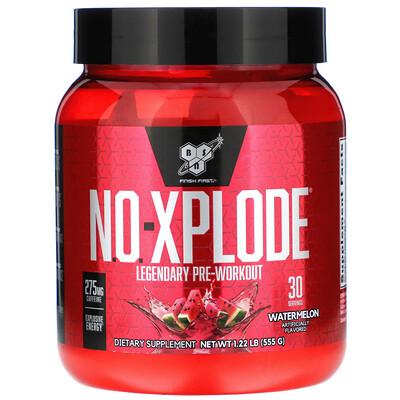 Фото - N.O.-Xplode, Legendary Pre-Workout, Watermelon, 1.22 lb (555 g) n o xplode legendary pre workout со вкусом фруктового пунша 555 г 1 22 фунта