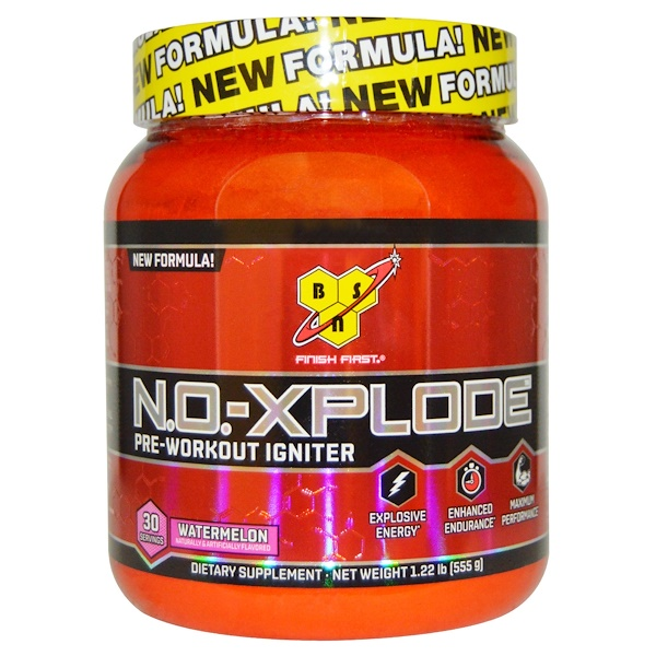 BSN, N.O.-Xplode, Pre-Workout Igniter, Watermelon, 1.22 lbs (555 g)