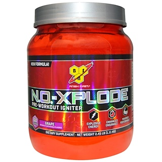 BSN, N.O.-Xplode, Pre-Workout Igniter, Grape, 2.45 lbs (1.11 kg)