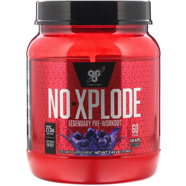 BSN, N.O.-Xplode, Legendary Pre-Workout, Grape, 2.45 lbs (1.11 kg)