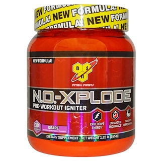 BSN, N.O.-Xplode, Pre-Workout Igniter, Grape, 1.22 lbs (555 g)