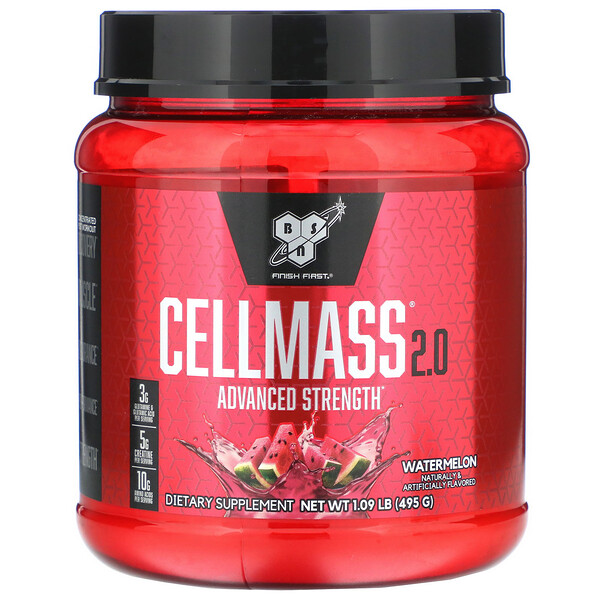 BSN, Cellmass 2.0, Advanced Strength, Post Workout, Watermelon, 1.09 lbs (495 g)