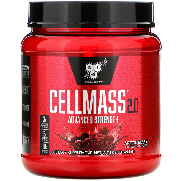 BSN, Cellmass 2.0, Concentrated Post Workout Recovery, Arctic Berry, 1.09 lb (495 g)