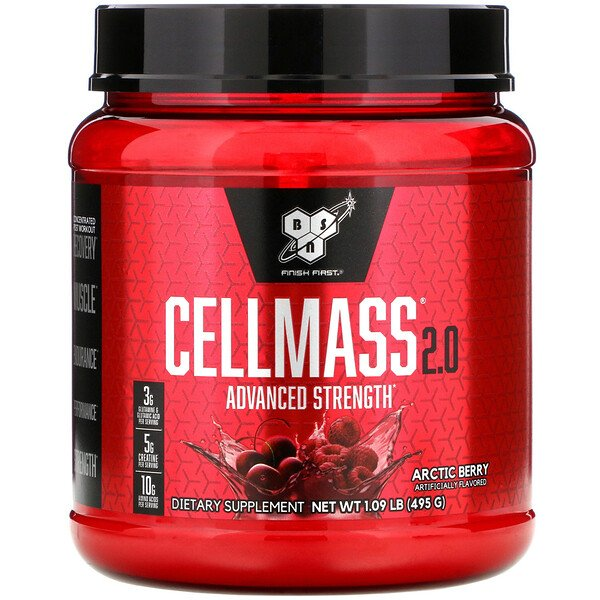 BSN, Cellmass 2.0, Advanced Strength, Post Workout, Arctic Berry, 1.09 lb (495 g)