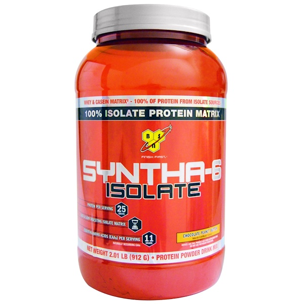 BSN, Syntha-6 Isolate, Protein Powder Drink Mix, Chocolate Peanut Butter, 2.01 lbs (912 g) (Discontinued Item)