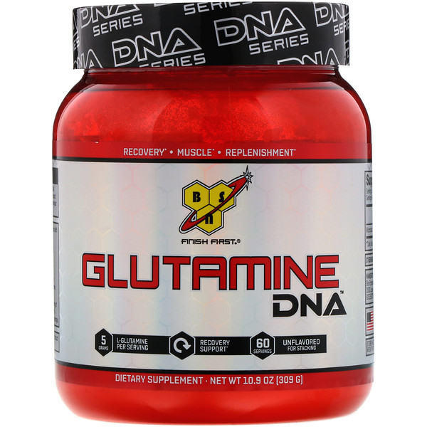 BSN, DNA Series, Glutamine DNA, sin sabor, 10,9 onzas (309 gramos)