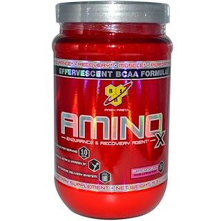 BSN, アミノX、発泡性BCAAフォーミュラ、スイカ味、15.3 oz (435 g)
