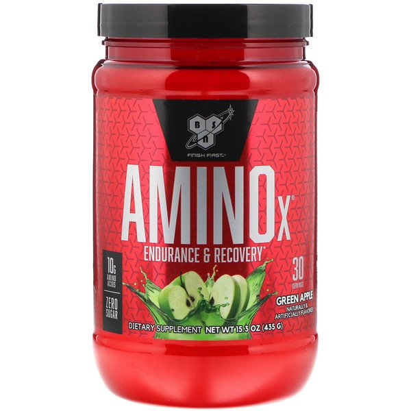 AminoX, Endurance & Recovery, Green Apple, 15.3 oz (435 g)