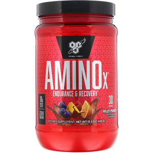 БСН, AminoX, Endurance & Recovery, Fruit Punch, 15.3 oz (435 g) отзывы покупателей