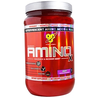BSN, Amino-X, Endurance & Recovery Agent, Grape, 15.3 oz (435 g)