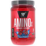 Отзывы о BSN, AminoX, формула с аминокислотами с разветвленной цепью, без кофеина, синяя малина, 15.3 унц. (435 г)