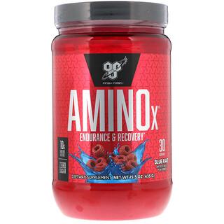 BSN, AminoX 长久供能加快复原营养粉,蓝色拉兹味,15.3 盎司(435 克)